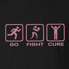 New Ladies Cancer T-shirt Go Fight Cure breast cancer awareness Pink print bulk