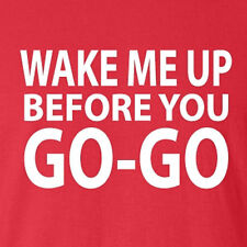 New Wham Tee Wake Me Up Before You Go-Go 80's party disco GEORGE MICHAEL pop
