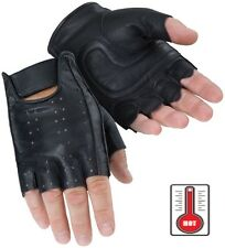 Tourmaster Select Fingerless Ventilated Leather Motorcycle Gloves - Men's XS-3XL