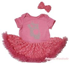 Ballet Flats Shoes Dusty Pink Bodysuit Girls Romantic Rose Baby Dress Set NB-18M