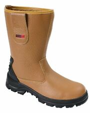 Blackrock Adults Rigger Safety Boots - Steel Toe Cap, Fur Lined, Wide Fitting