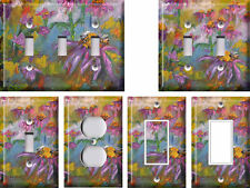 Abstract Flowers - Light Switch Covers Home Decor Outlet