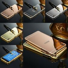 Metal Aluminum Frame Mirror Back Case Cover for Sony Xperia Z1 2 3 5 Compact M4