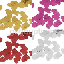 Metallic Love Heart Wedding Party Table Confetti Decor Sprinkles Scatter Charm