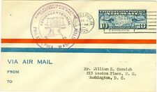 1926 CAM FLIGHT COVER 13S1 PHILADELPHIA TO WASHINGTON,DC FLOWN BY PR TRANSIT