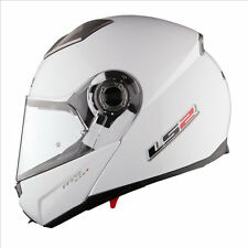 LS2 FF370 Easy Flip Front Up Modular Motorbike Motorcycle Crash Lid Helmet White