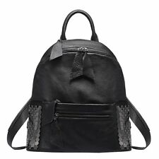 Summer Simple Leather Women Backpack Rivet Weekend Luggage Knapsack Bookbags
