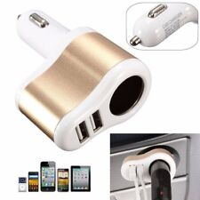 3.1A Dual 2 USB Car Cigarette Lighter Socket Splitter Charger Power Adapter