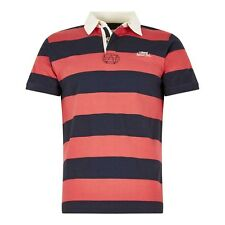Weird Fish Resolution Striped Rugby Style Shirt Dark Navy