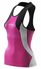 Tri Top Skins™ TRI400 Women's Compression Racerback Top Black/Orchid