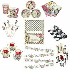 TALKING TABLES TRULY ALICE IN WONDERLAND TABLEWARE CUPS PLATES NAPKINS