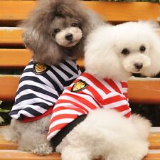 Englon Style Stripe Polyester Polyeste Dog T-Shirt Clothes For Spring And Summer