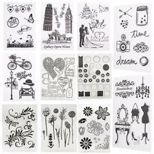 Flower Transparent Clear Rubber Stamp Sheet Cling Scrapbooking Decor Seal DIY