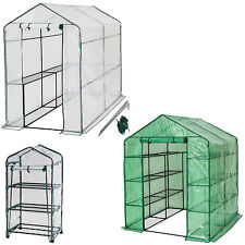 Greenhouse with shelf PVC cover growhouse outdoor tent house plants