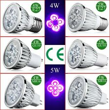 4W 5W E27 GU10 MR16 UV LED Ultraviolet Spotlight Lamp Bulb AC 85-265V /12 NEW