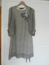 French Connection silk mix beaded dress size 8