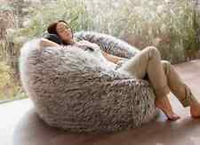 NEW X-Large 120cm / Large 90cm Brown Faux Fake Shaggy Fur Bean Bag Beanbags