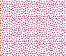 Watercolor Hearts craft Spoonflower fabric by the yard in a variety of cotton