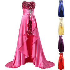 Strapless BEADED Bridesmaid Ball Gown Formal Evening Prom Cocktail Party Dresses