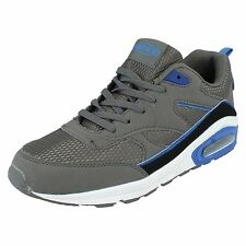 Air Tech Legacy Men's Dark Grey/Blue Lace Up Textile/Synthetic Trainers