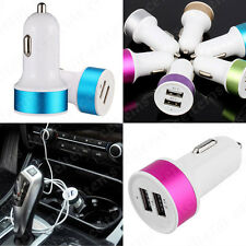 2 Port Dual USB Mini Car Charger Adapter For Samsung iPhone HTC LG Huawei Nokia