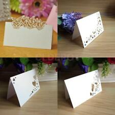 50pcs White Place Name Cards Wedding Birthday Party Table Placecards Mark Decor