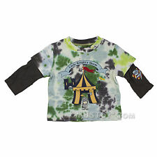 NWT Flapdoodles Tie Dye Little Knight's Quest Long Sleeve Shirt size 6/9 or 12M