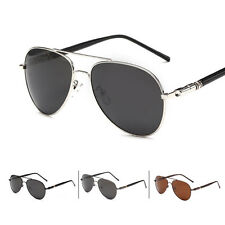 Polarized Men's Retro Aviator Metal Sunglasses Outdoor Sport Eye Glasses Eyewear