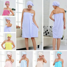 Bowknot Shower Bamboo Fiber Absorbent Body Wrap Washcloths Bath Towel Cap Set