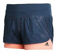Adidas Women GYM 2-in1 Shorts Climalite Training Pants Running Fitness AJ4838