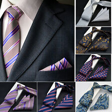 NEW Man Silk Satin Pocket Square Hankie Handkerchief Necktie Set