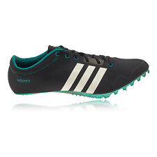 Adidas Adizero Prime Mens White Blue Running Sprint Spikes Sports Shoes