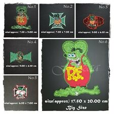 Rat Fink Patch Embroidered Sew Iron On R.F. Ed Roth Hot Rod Racing Big Daddy New