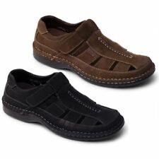 Padders BREAKER Mens NubuckLeather Closed Toe Slip On Sports Sandals Black,Brown