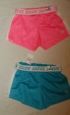 NEW JUSTICE SIZE 6 7 10 12 14 16 18 FOLDOVER WAIST MESH SHORTS 6 COLORS PICK 1