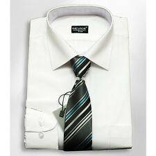 Boys Formal White Shirt And Tie Set Wedding Prom Suit Prom Smart Device Shirts