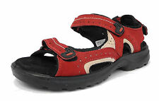 Womens Ladies Mod Comfys Triple Velcro Leather Sports Hiking Trail Sandals 3-8