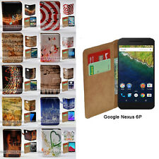 For Google Huawei Nexus 6P Case - Music Note Print Wallet Phone Case Flip Cover