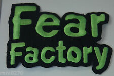 FEAR FACTORY EMBROIDERED  SEW IRON ON  PATCH BADGE  T-SHIRT JACKET LOGO NEW