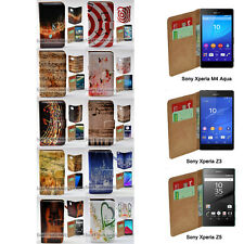 For Xperia XZ XA XP M4 Aqua Z5 Series Z3 - Music Note Print Wallet Phone Case