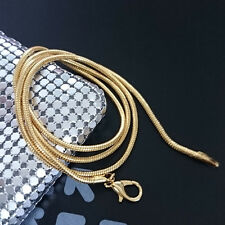 Fashion 18K Yellow Gold Plated 2mm Snake Chain Snake Chain Pendant Necklace