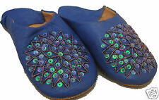 FAIR TRADE MOROCCAN LADIES WOMENS LEATHER BABOUCHE SLIPPERS 5 CLS & SIZE OPTIONS