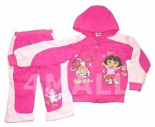Kids Girls Dora Explorer Spray Proof Hoodie Jacket TrackSuit Winter Outfit Size