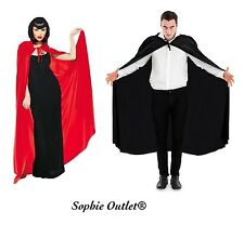 Adult DRACULA VAMPIRE SUPERHERO LONG CAPE Fancy Dress Costume Halloween Party
