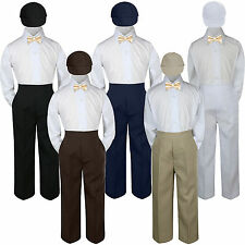 4pc Champagne Bow Tie Party Suit Pants Set Formal Baby Boy Toddler Kid S-7
