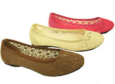 Women Ballet Sand Shoes Lace Mesh Flat Loafer Casual Shoes
