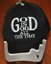 God is Good All the Time I Love Jesus Christian Hat Ball Cap Camo Black Blue