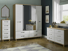 READY ASSEMBLED New Geo 6 Drawer Wide Chest of Drawers Bedroom Furniture