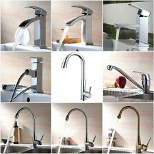 Modern Kitchen Faucet Wash Sink Mixer Tap Swivel Single Lever Spout Brass Chrome