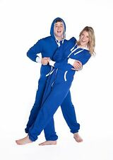 Big Feet - Blue Hooded One Piece Jumpsuit - Onesie